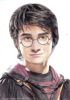 Harry Potter by unnabanana on DeviantArt Carte Harry Potter, Young Harry Potter, Harry Potter Sketch, Arte Do Harry Potter, Harry Potter Painting, Harry Potter Artwork, Harry Potter Friends, Harry Potter Drawings, Harry James Potter
