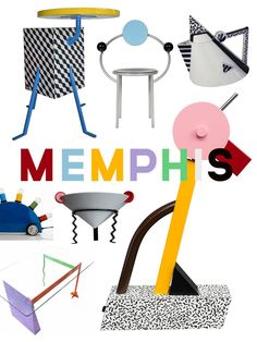 """ DESIGN //The wonderfully wacky world of Memphis Design. "" Memphis Design, described my some as a ""shotgun wedding between Bauhaus and Fisher-Price"" is a… "" View Post "" Memphis Design, Memphis Art, Memphis Milano, Powerpoint Design Templates, Powerpoint Themes, Pop Art Decor, Decoration, Shotgun Wedding, Memphis Pattern"