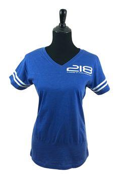 218 Vintage Football T-Shirt (Blue)