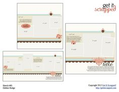 3 coordinated sketches & layered templates for photoshop