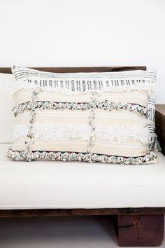 Hendrix & Harlow Moroccan Handira Cushion Cream