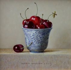 Ingrid Smuling, kersen in kommetje, 15 x 15 cm..jpg (500×496)