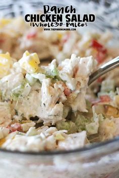 Paleo ranch chicken salad recipe! This is my husband's favorite thing we ate on the Whole30 diet!!