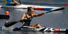 New Zealand's Lisa Carrington paddles on her way to winning a women's kayak single 200m semifinal in Eton Dorney, near Windsor, England, at the 2012 Summer Olympics, Friday, Aug. 10, 2012. Photo: Chris Carlson / AP