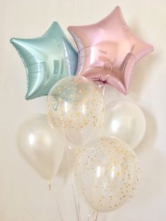 Pink Blue and Gold Star Balloons~Gender Reveal~Baby Shower~Twinkle Twinkle Little Star Party~Twinkle Baby Shower~How we wonder what you are by SweetEscapesbyDebbie on Etsy https://www.etsy.com/listing/561156819/pink-blue-and-gold-star-balloonsgender