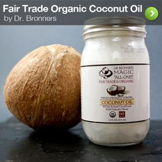 Fair Trade Organic coconut oil! Tastes awesome and there's so many incredible ways to use coconut oil like sunscreen, body moisturizer, cooking oil, and hair mask!