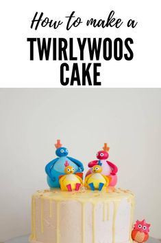 How to make a Twirlywoos cake. Perfect for your child's birthday party. I made this one for my daughter. It was her first birthday and she absolutely loves the Twirlywoos after watching them on Cbeebies.