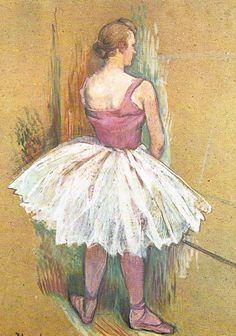 Titel: Staande danseres Design: Henri toulouse-Lautrec . Postcard