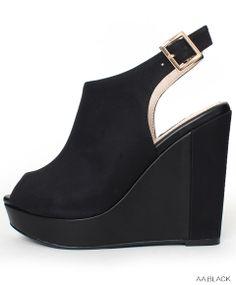 Peep-toe Wedge Sandals /ES3322  $79.90USD