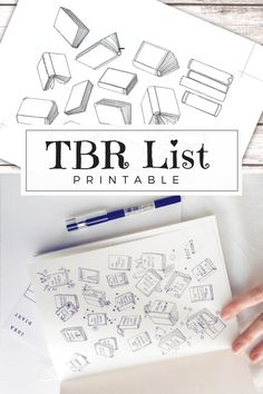 TBR - To Be Read List Printable Track your reading goals in the new year with these hand-drawn printables! Perfect for bullet journals and planners, and with two different versions for different reading goals. Fill in the titles as you go, color in books you've read (or add little doodles that fit with the book's theme!) and see your progress.