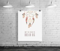 Inspirational Print Printable Wall Art Don't be by ArtFilesVicky