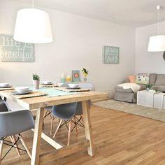 Comedores de estilo escandinavo de Karin Armbrust - Home Staging https://www.homify.es/libros_de_ideas/2867537/un-increible-piso-de-estilo-escandinavo-en-colores-neutros