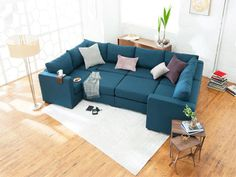 Our comfortable 8 Seat + 10 Side modular sectional couch is perfect for an entire family to stretch out and relax. Plywood Furniture, New Furniture, Furniture Plans, Modular Living Room Furniture, Living Room Sofa, Love Sac Sectional, Sectional Sofas, Oversized Couch Sectional, U Couch