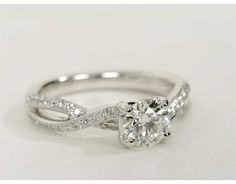 0.9 Carat Diamond Twist Pavé Diamond Engagement Ring | Recently Purchased | Blue Nile