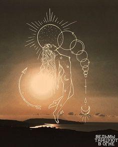Art Sketches, Art Drawings, Illustrations, Illustration Art, Moon Art, Aesthetic Art, Art Inspo, Line Art, Concept Art