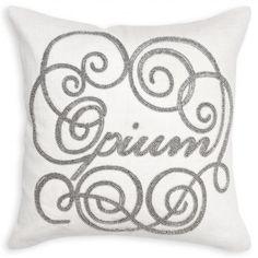 opium beaded linen pillow Johnathan Adler