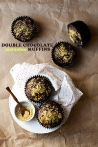 Double Chocolate   Pistachio Muffins