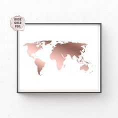 Gold world map gold foil world map world map wall art gold map rose gold foil world map rose gold foil world map world map wall art rose gold map rose gold foil map large world map rose map poster gumiabroncs Gallery