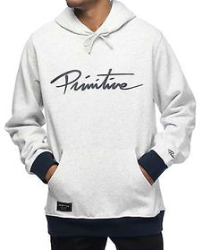 Primitive Nuevo Contrast Ice Heather Grey Hoodie