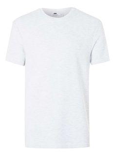 Light Grey Ribbed Textured T-Shirt