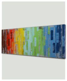 Malerei, abstrakte Acryl-Malerei / Original Wallart Laufenden Farben - B11  Technik: Acryl & Struktur auf Leinwand Größe: Breite: 59.1″ (150 cm) x Höhe: 19, 6″ (50 cm) (0.8″ (2 cm) Dicke Leinwand: 0,8 cm (2)  Dies ist eine Art Kunstwerk, erstellt und von mir gemalt. Ich melde immer meine Arbeit auf Vorder- und Rückseite jeder Malerei.  VERSANDKOSTEN WERDEN EINMAL WÖCHENTLICH: Abholung werden jeden Dienstag, an diesem Tag fliegen Ihr Paket direkt zum Ziel.  Europa 5-10 Tage USA + Kanada…