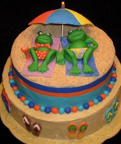 Frogs at Beach - Moonlight Cakes