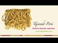 Crochet: cómo tejer el punto rulo o bucle - YouTube