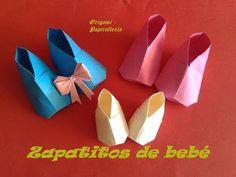 ▶ Origami - Papiroflexia. Zapatitos de bebé, muy fácil - YouTube