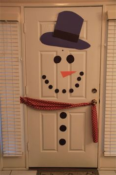 Snowman Party... an interior door in my classroom?