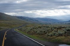 The Long Lamar Road - Valley, Yellowstone photo art, picture, print, Wyoming, Roadway Picture, Travel Photography, wolf valley, nature photo by DajDesigns on Etsy