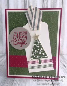 handmade greeting card, holiday card, christmas, christmas tree, red & green, embossed, DIY, demonstrator, paper crafting, easy, stamping, greeting card, craft, paper, *Stampin' Up, by Amy Frillici, Gathering Inkspiration Stamp Studio, order products online at amysuzanne.stampinup.net