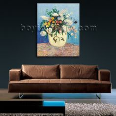 Beautiful 1-panel canvas print on artist canvas with bouquet in still life style. It is available in numerous sizes to fit any size room!