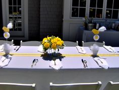 Gray and Yellow Baby Shower: LaLa  Lissy Lou