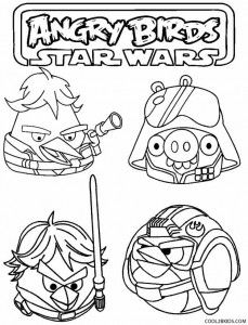Star Wars Angry Birds Coloring Pages