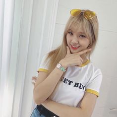 Oh My Girl | Mimi South Korean Girls, Korean Girl Groups, Female Character Inspiration, Sailor Scouts, Best Face Products, Female Characters, Hair Looks, Girl Photos, Kpop Girls
