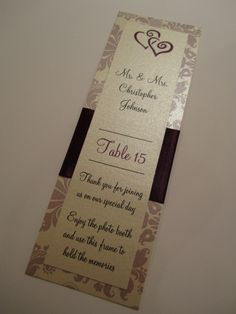 Photo Booth Frame Insert, Purple and Lavender.