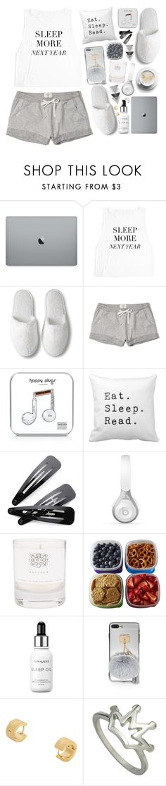 """""""Sleep In: Lazy Day 2"""" by lana-baloley ❤ liked on Polyvore featuring Hollister Co., Happy Plugs, Beats by Dr. Dre, Law of Sleep, Fit & Fresh and Tan-Luxe"""