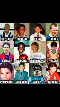 Fifa world cup. Some childhood photos of the world's best soccer players. Let's see how long it takes you...