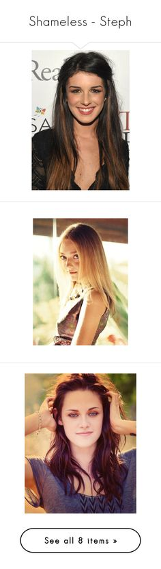 """Shameless - Steph"" by dianna-argons-lover ❤ liked on Polyvore featuring girls, people, shenae grimes, shenaegrimes, home, home decor, fans, dakota fanning, kristen stewart and models"
