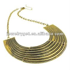 Aliexpress.com : Buy Chunky Gold Chainmaille Obit Choker Bib Necklace,Free Shipping, NL 1732 from Reliable fashion necklace suppliers on Well Done Fashion Jewelry Co.,Ltd. $10.27