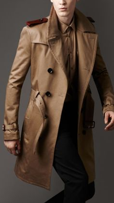 Burberry leather epaulette man trench Trench Coat Men, Military Trench  Coat, Burberry Trench Coat e5f61ed9f28