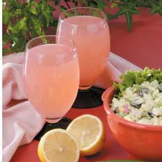 Lemon Berry Pitcher Punch Recipe--can make low-cal (9 calories per serving) version