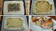 Pokud máte doma listové těsto, toto vyzkoušejte: 21 rychlých a bezkonkurenčních párty receptů.   NejRecept.cz Taco Pizza, Mashed Potatoes, Tacos, Dinner, Ethnic Recipes, Food, Butler, Muffins, Food Items