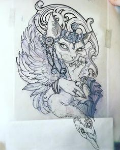 AVAILABLE I had a couple days open up for this coming week. Anyone interested in the art nouveau kitty? Complete with #bjork swan boa... Please email me through my website teresasharpeart.com #kittytats #Available #nouveau