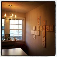 My apartment with the new Scrabble wall tiles up!