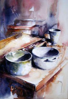 Catherine Rey watercolor artist The Watercolour Log #watercolorarts