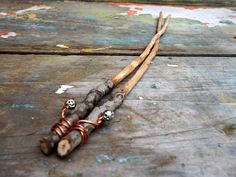 Hand made knitting needles hand carved from fallen by ShadyWoods