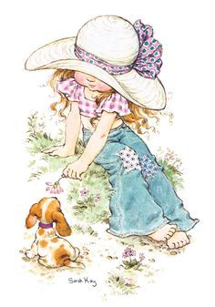 Silk Ribbon Embroidery Instructions | Isabelle with puppy Coco (A4 Medium) embroidery panel | Di van Niekerk