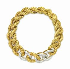 A DIAMOND, GOLD AND PLATINUM NECKLACE, BY DAVID WEBB
