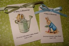 Peter Rabbit Baby Shower or Baby Sprinkle Seed by SuLuGifts, $21.00